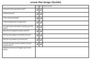 02212013 - 5 Post Training Tools (Checklist)