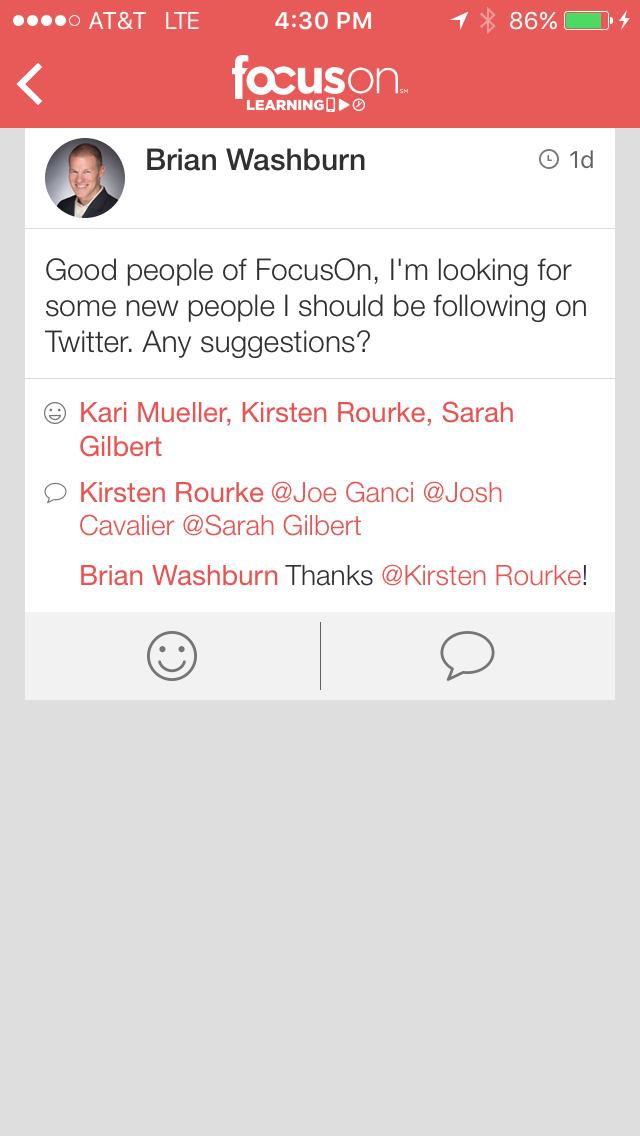 App - Twitter follows