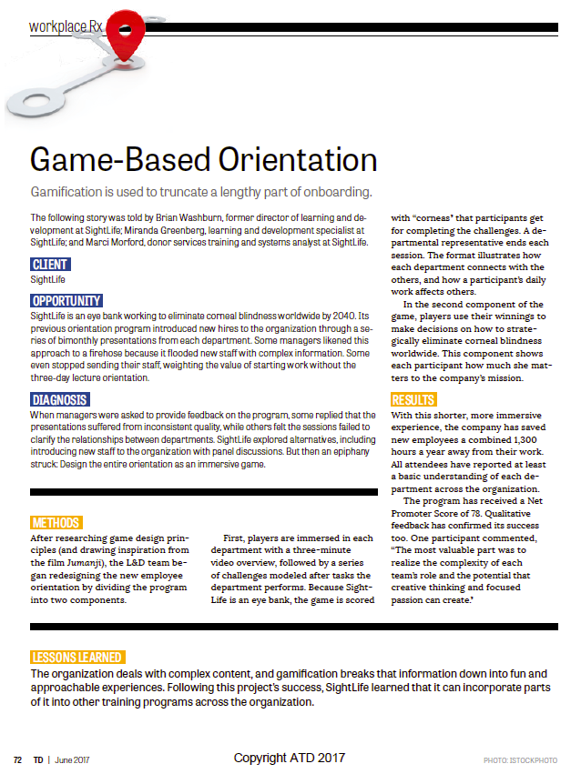 Game-based Orientation